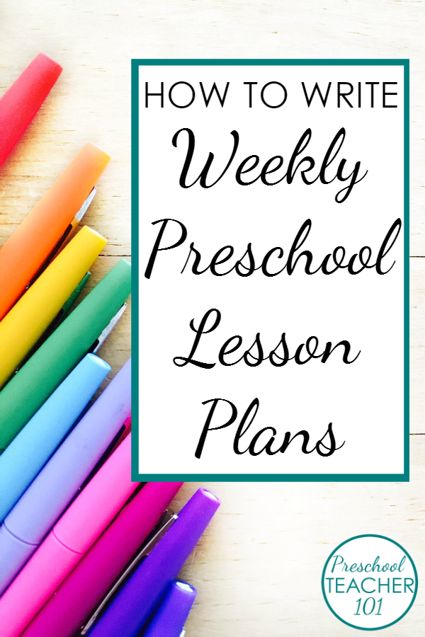 Preschool Lesson Plan Template For Weekly Planning Preschool Plans