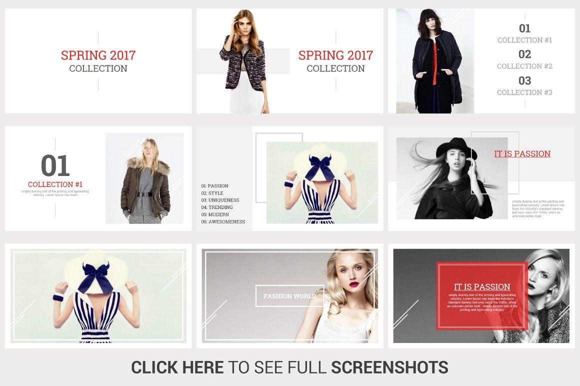 Fashion PowerPoint Template #Ad , #spon, #Unique#slides