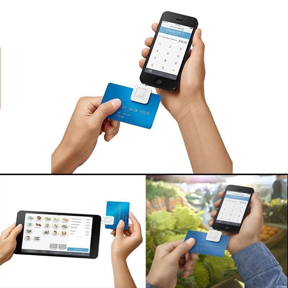 Credit Card Reader Square Magnetic Chip Mobile Machine Iphone Ipad