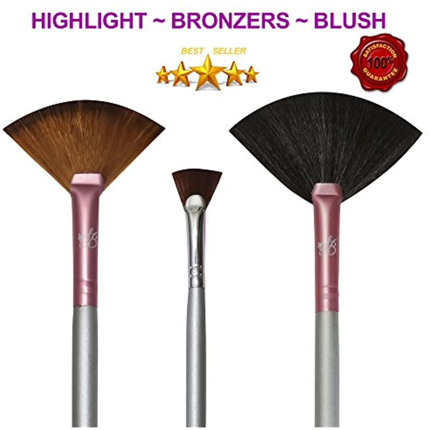 Makeup Highlighting Fan Brush Cheeks Bronzers an