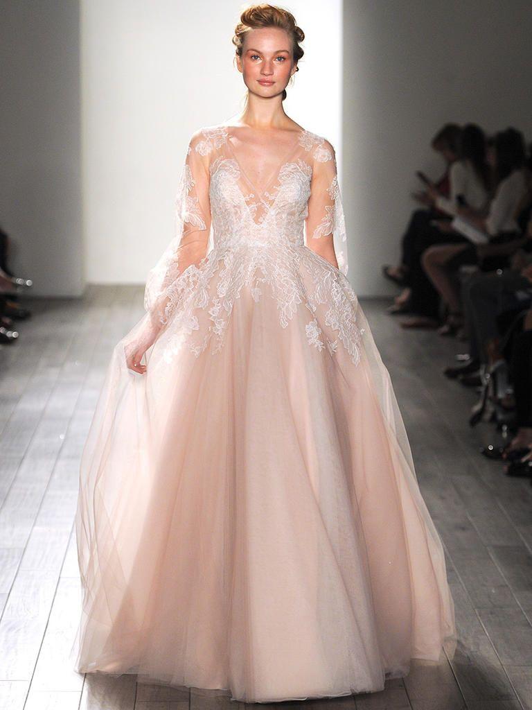 28 Gorgeous Blush And Light Pink Wedding Dresses Pink Wedding Dresses Blush Wedding Gown Blush Color Wedding Dress