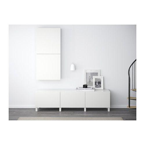 IKEA BESTA Lappviken White Storage combination with drawers