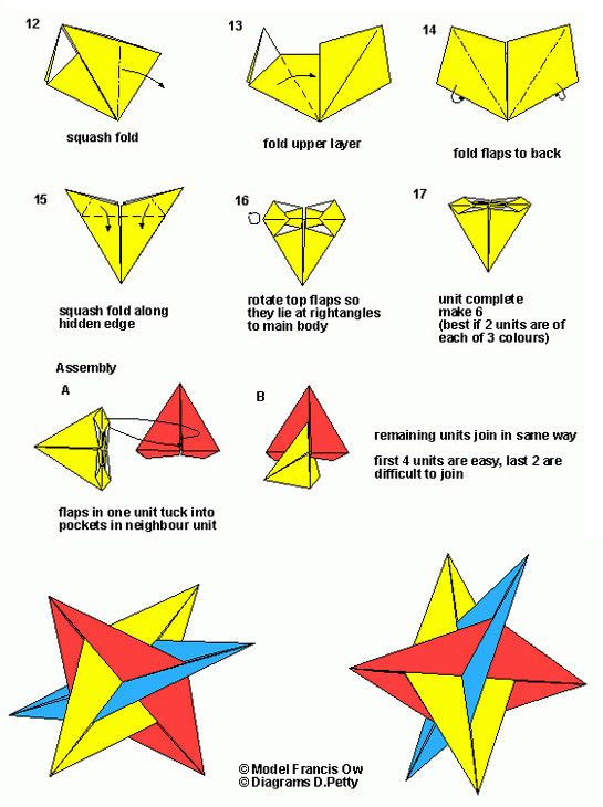 xyz diamonds modular modular diagram part 2 paper pinterest rh pinterest com Geometric Origami Diagrams Origami Box