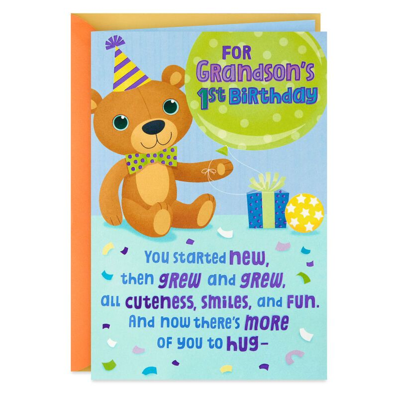 More Of You To Hug Pop Up 1st Birthday Card For Grandson 1st Birthday Cards Old Birthday Cards Kids Birthday Cards