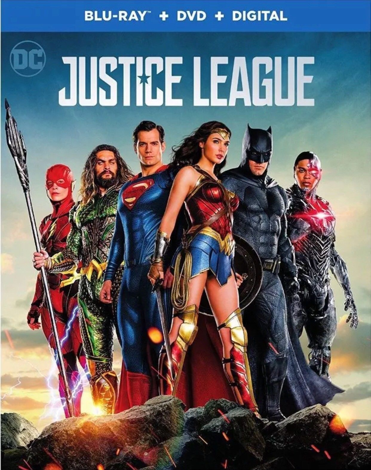 justice league(blu-ray+dvd+digital)w/slipcover new unopened