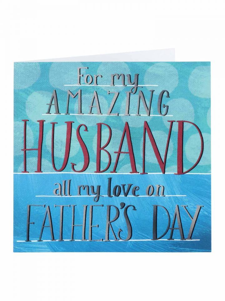 Amazing husband fathers day card fathers day clintons