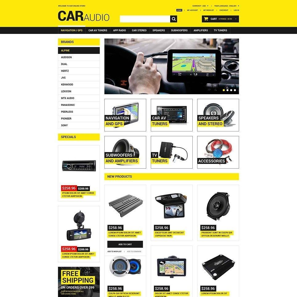 Meaow!! Car Audio Video Magento Theme CLICK HERE! http://cattemplate ...