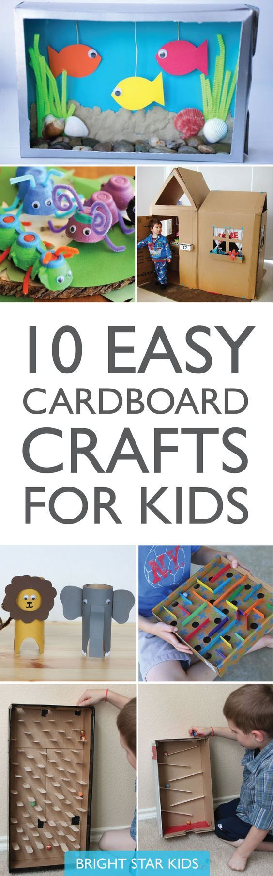 10 Easy Cardboard Crafts For Kids // Holiday Boredom Busters // Kids Craft Activities