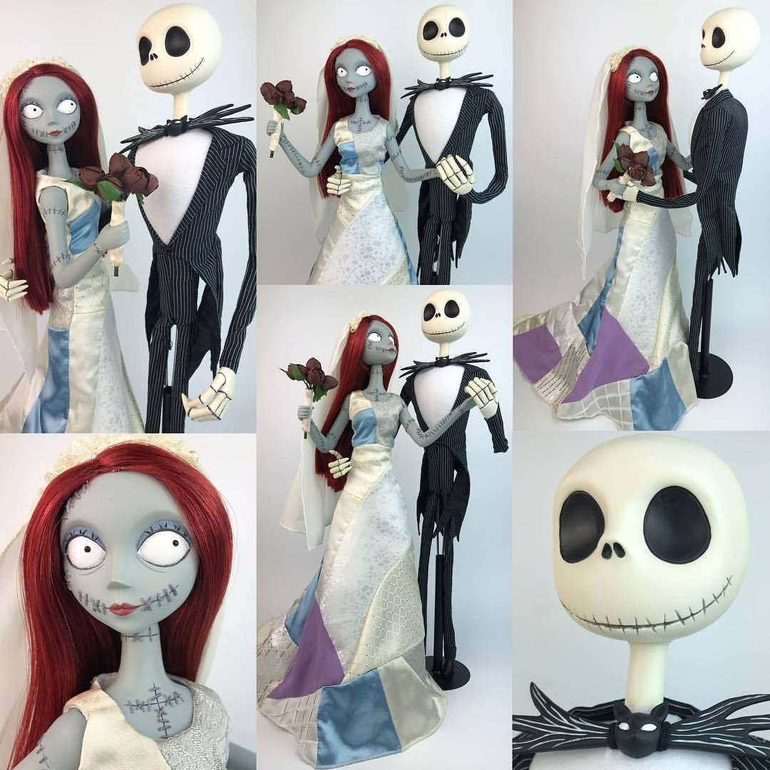 "MmDisney Doll Collection — Jack & Sally ""Nightmare Romance"" Doll set ..."