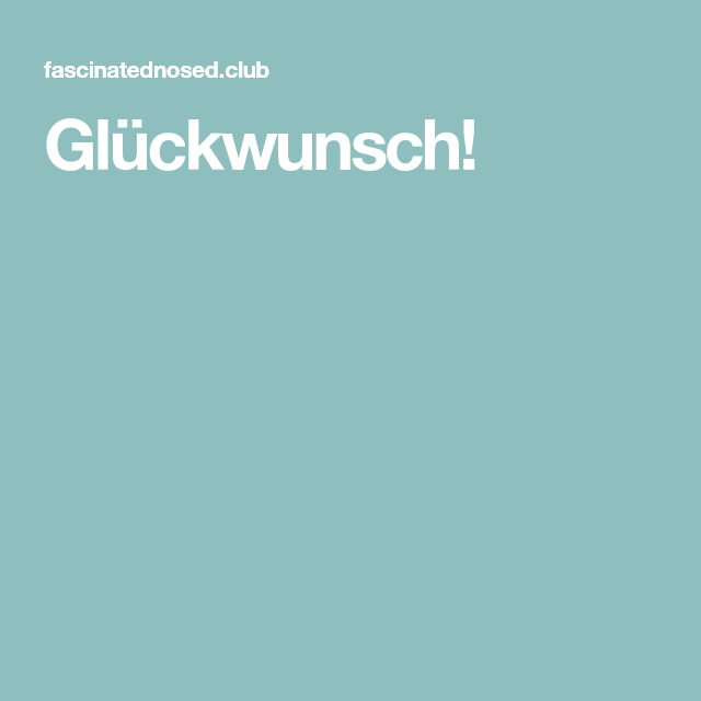 Photo of Glückwunsch!