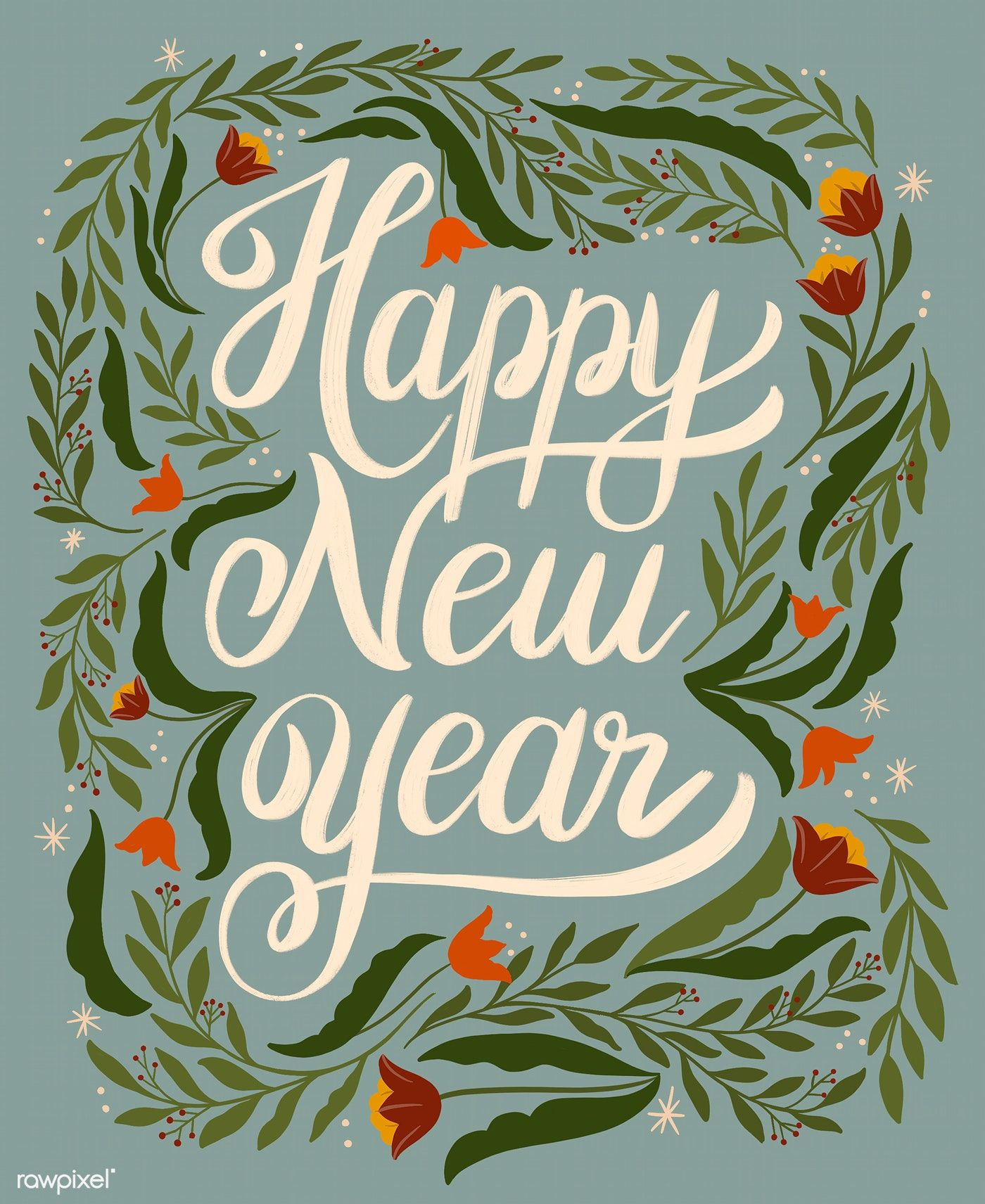 Download premium illustration of Happy new year greeting