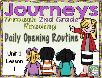Your daily routine for Journeys Reading for 2nd grade just got a whole lot easier! If youre using Journeys Common Core in your classroom you know there are many great components.  One is the Daily Opening Routine.  Ive taken this daily routine and put it into a PowerPoint slide show so each part will be right at your finger tips!