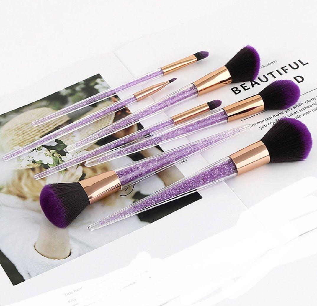 Free p&p Rhinestone Crystal Makeup Brush Set by