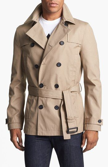 Mens Trench Coat Short
