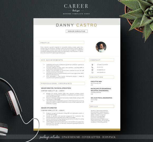 Modern Resume  Coverletter Template Creativework  Resume