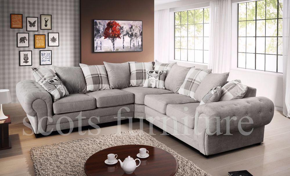 Astonishing New Large Venecia 5 Seater Corner Sofa Chesterfield Style Home Interior And Landscaping Mentranervesignezvosmurscom