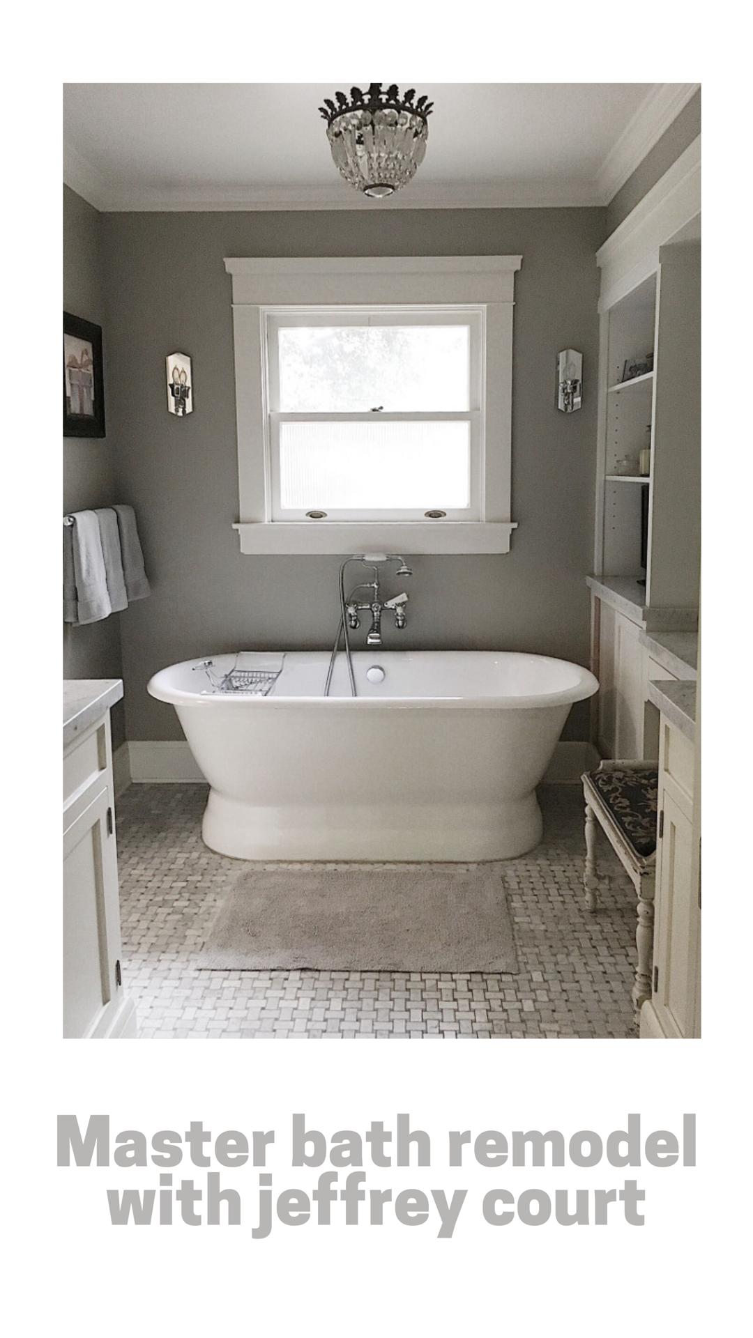 Jeffrey Court Master Bathroom Renovation Challenge Glass Shower Shower Floor Master Bathroom