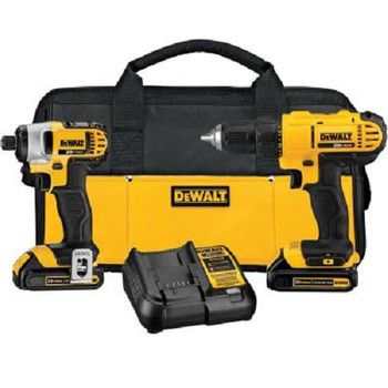 Factory Reconditioned Dewalt Dck240c2r 20v Max Cordless Lithium Ion Drill Driver And Impact Driver Kit Dewalt Drill Combo Kit Combo Kits