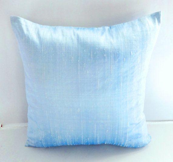 Baby Blue Dupioni Silk Pillow Cover Baby Blue Throw Pillow Sky Extraordinary Ice Blue Decorative Pillows