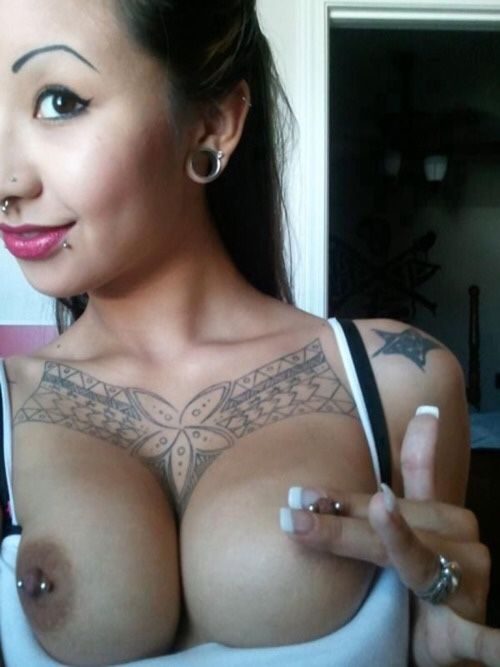 nipples Pierced asian