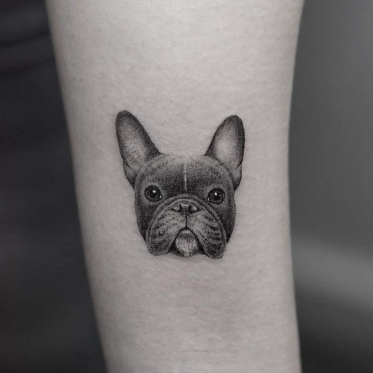 6b71e0677 Black French bulldog tattoo | Tattoo | Bulldog tattoo, Tattoos ...