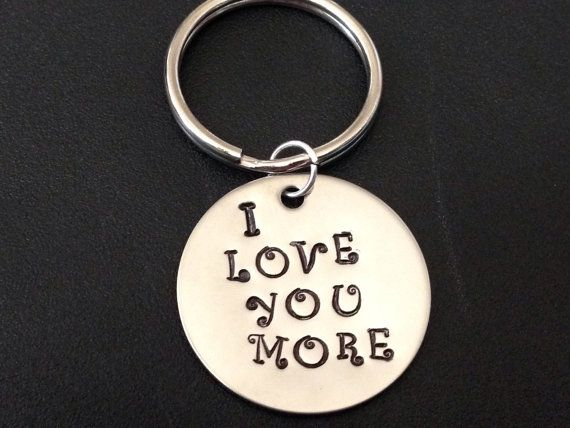 Hand Stamped I Love You Keychain, Handstamped Key Chain, Anniversary, Gift For Him, Gift For Her, Valentines Day, Personalized Gift  Custom stamped Gift idea for Todd!