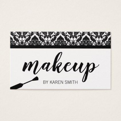 Makeup artist damask business card stylist business card makeup artist damask business card stylist business card business cards cyo stylists customize personalize reheart Image collections