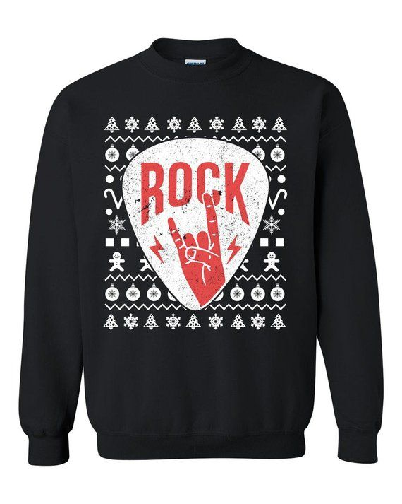 Rock Music Adults Ugly Christmas Sweater Rock N Roll Hard Rock Heavy