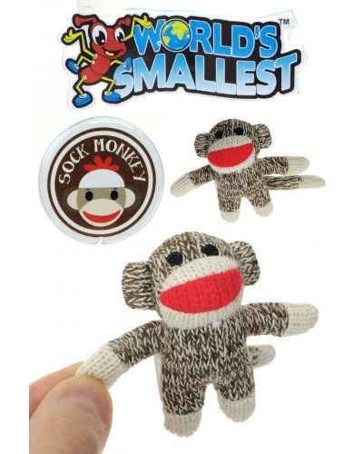 Sock Monkey World's Smallest 3 inches Tall #sockmoneky
