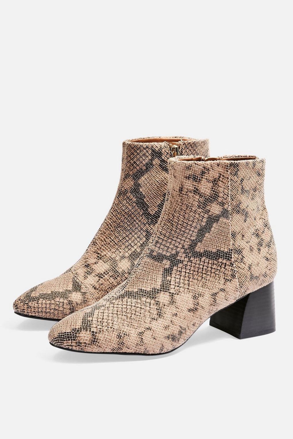 27ae4f26adb8 Babe Block Heel Boots - Trend: Animal Print - Clothing - Topshop ...