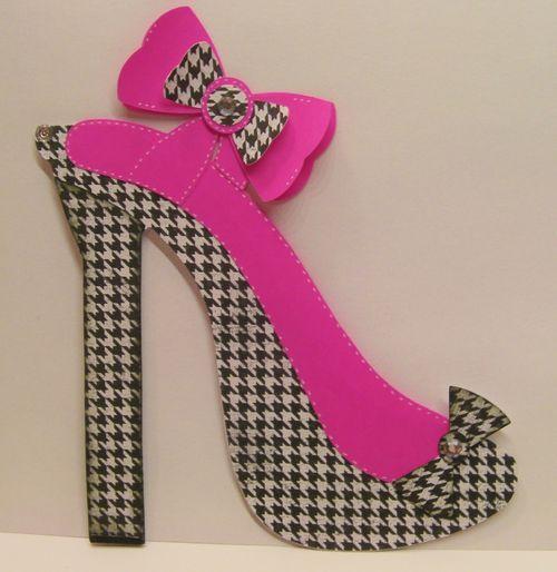 High Heel Shoe Shaped Card Rhonda Zmikly Tarjetas