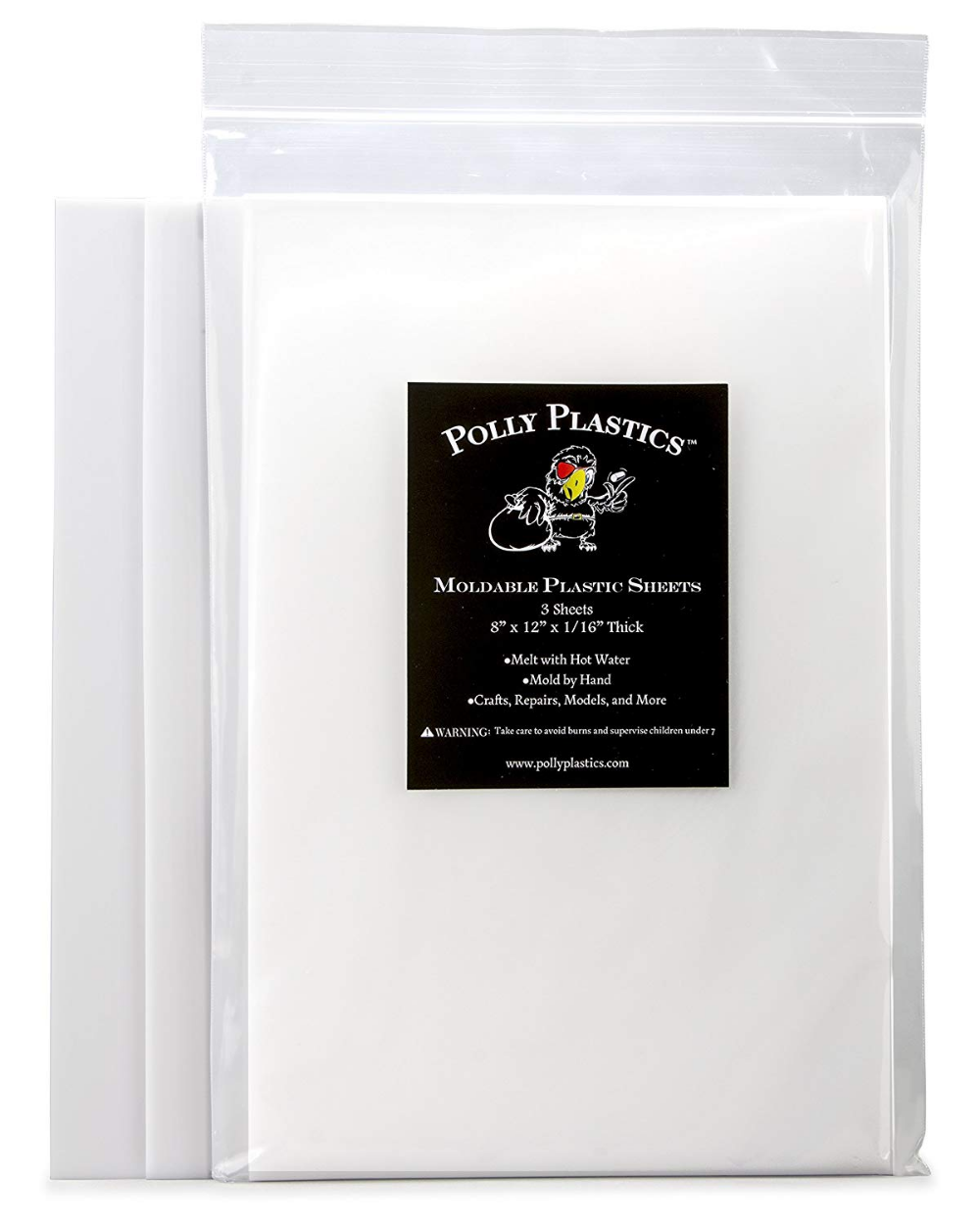 Amazonsmile Polly Plastics Heat Moldable Plastic Sheets 8 Inch X 12 Inch X 1 16 Inch For Cosplay Moldable Plastic Sheets Polly Plastics Moldable Plastic