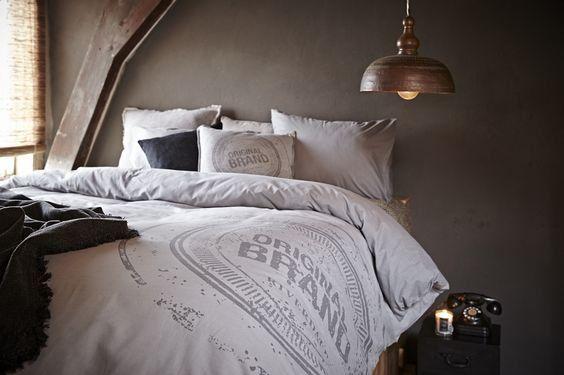 Dekbedovertrek original grijs lits jumeaux