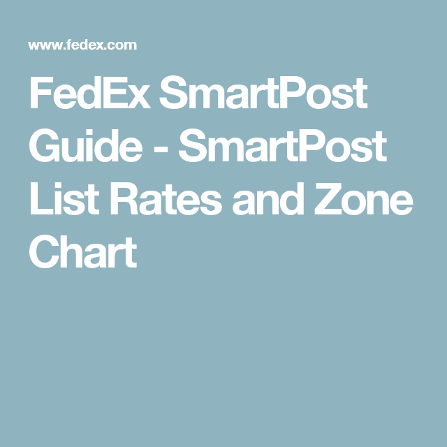 SmartPost List Rates And Zone