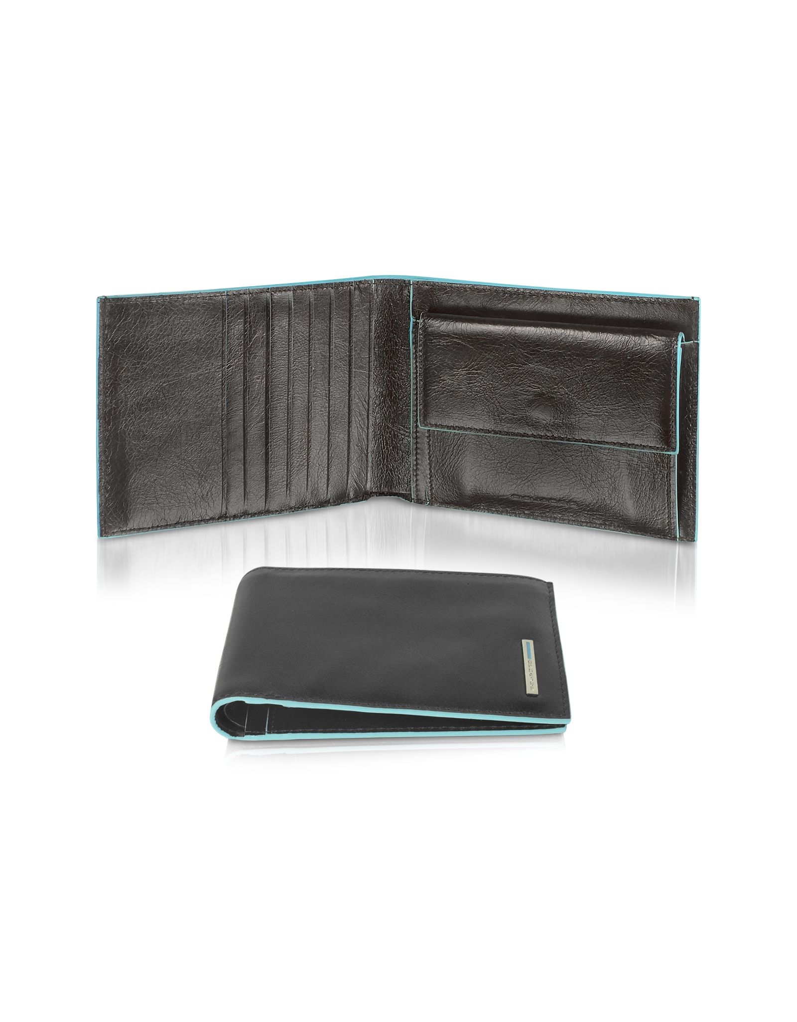 Piquadro Wallets, Square-Men's Leather ID Wallet