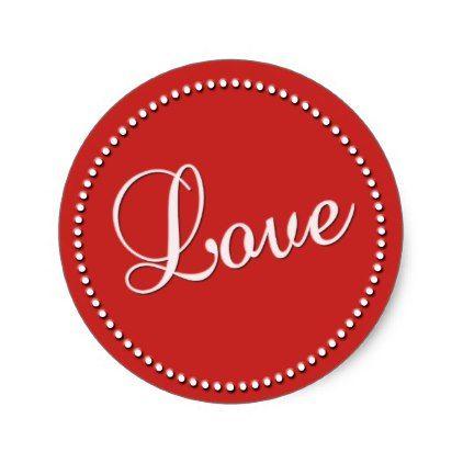 Valentine Special Round Sticker  Valentines Day Gifts Love Couple