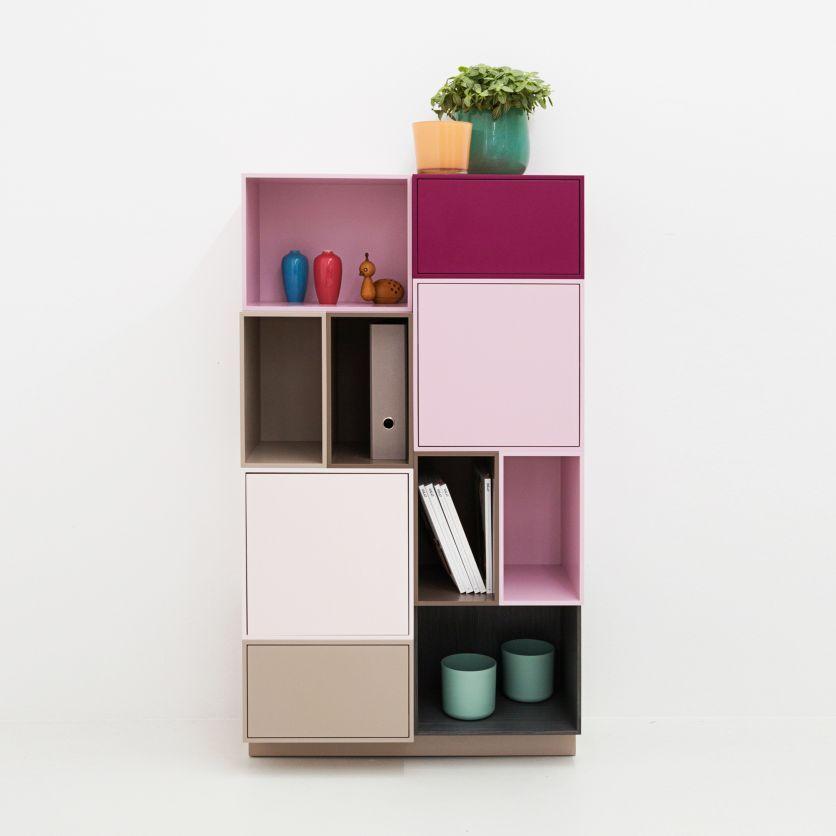 Bucherregal Auf Sockel Perfekt Fur Nischen Cube Rangement Etagere Livres Deco Maison Interieur