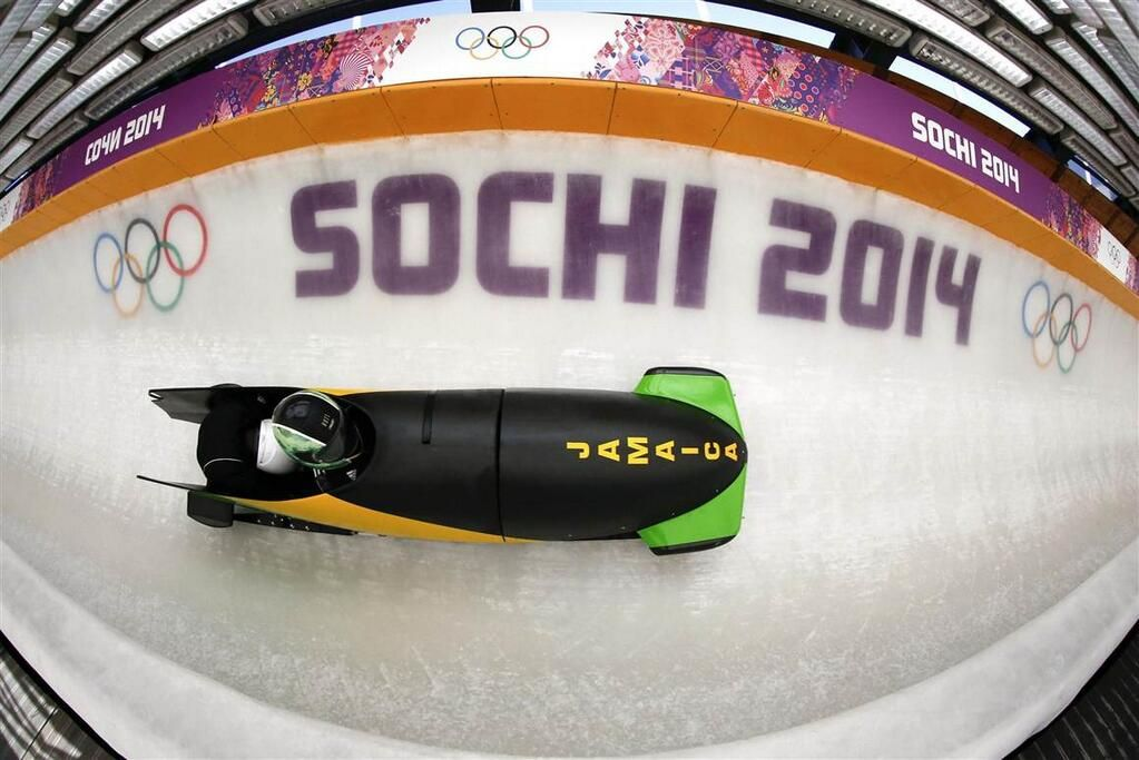 Jamaica's bobsled at Sochi.