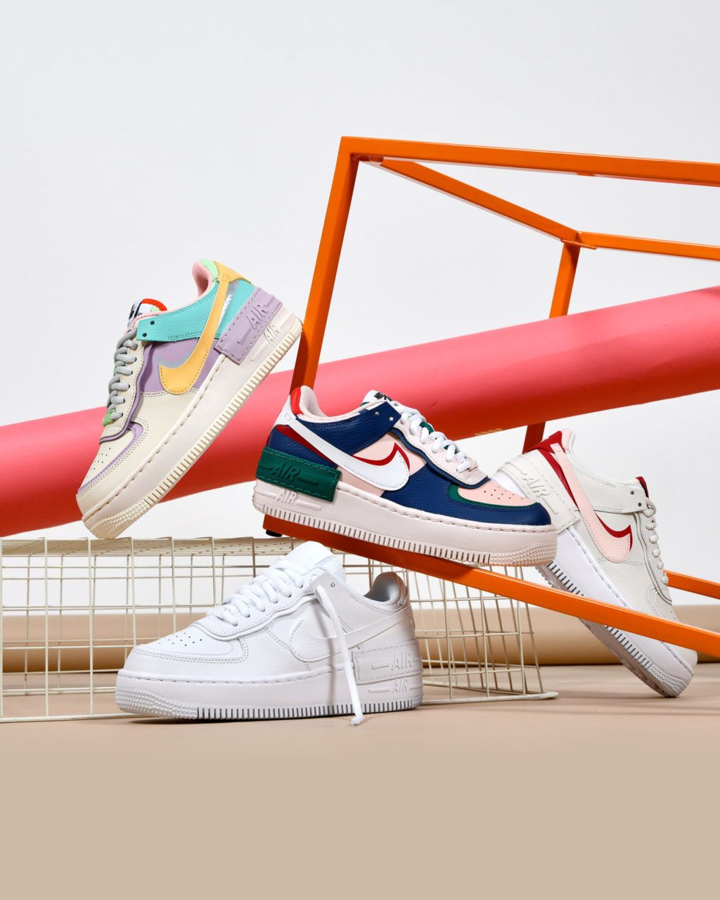 Nike Air Force 1 Shadow Pack sneakers. | Chaussures et chaussettes ...