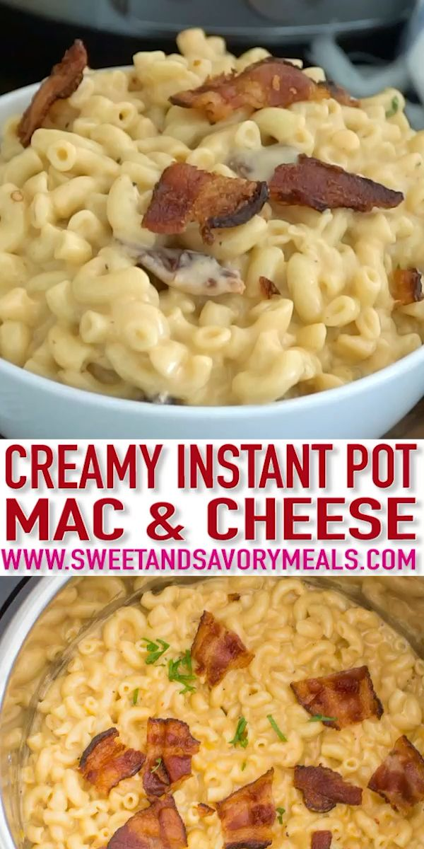Creamy Instant Pot Mac and Cheese [Video] - Sweet and Savory Meals images