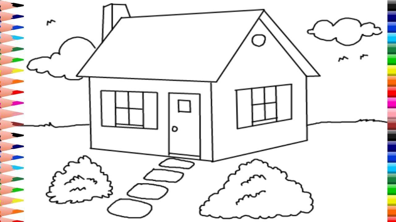 Como Dibujar Y Colorear Una Casa - Dibujos Para Niños - Baby Learn ...