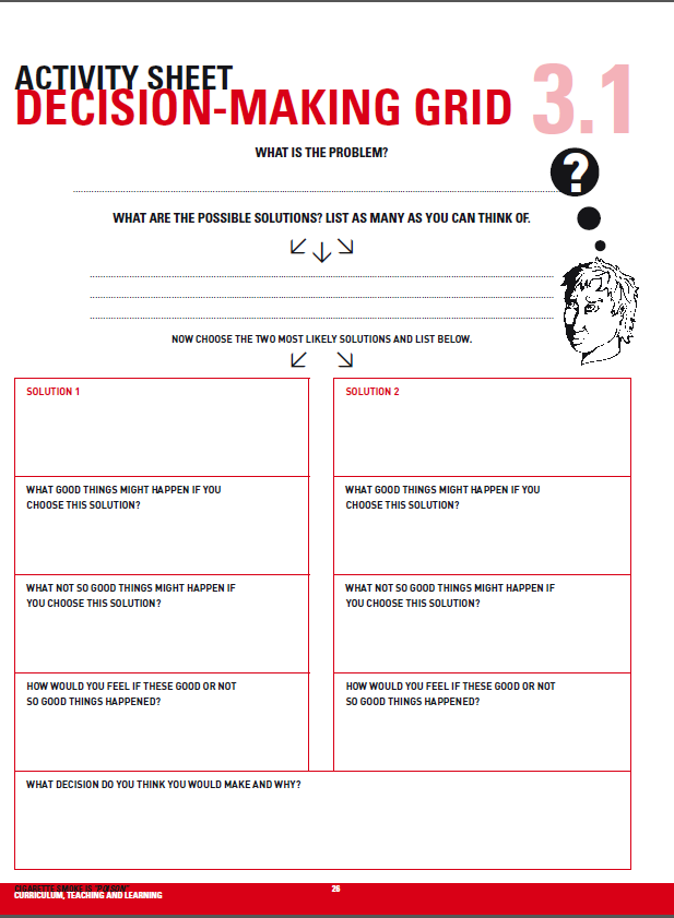 Worksheets Decision Making Worksheet 1000 images about decision making on pinterest activities curriculum and health teacher