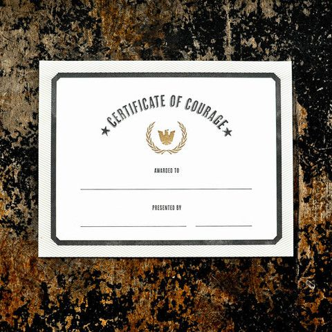 Courage Award Certificate - best of ordination certificate free