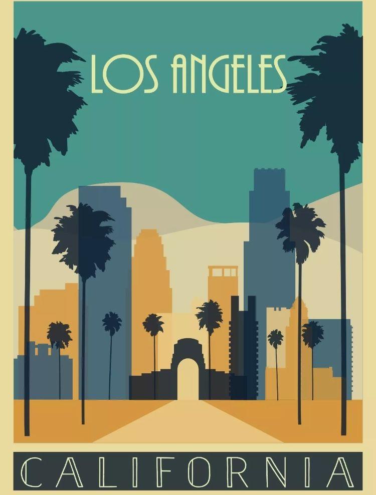 los angeles california reiseposter