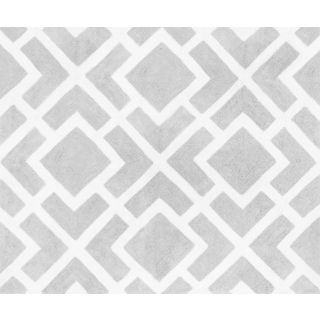 Perfect Sweet Jojo Designs Gray And White Diamond Accent Floor Rug By Sweet Jojo  Designs