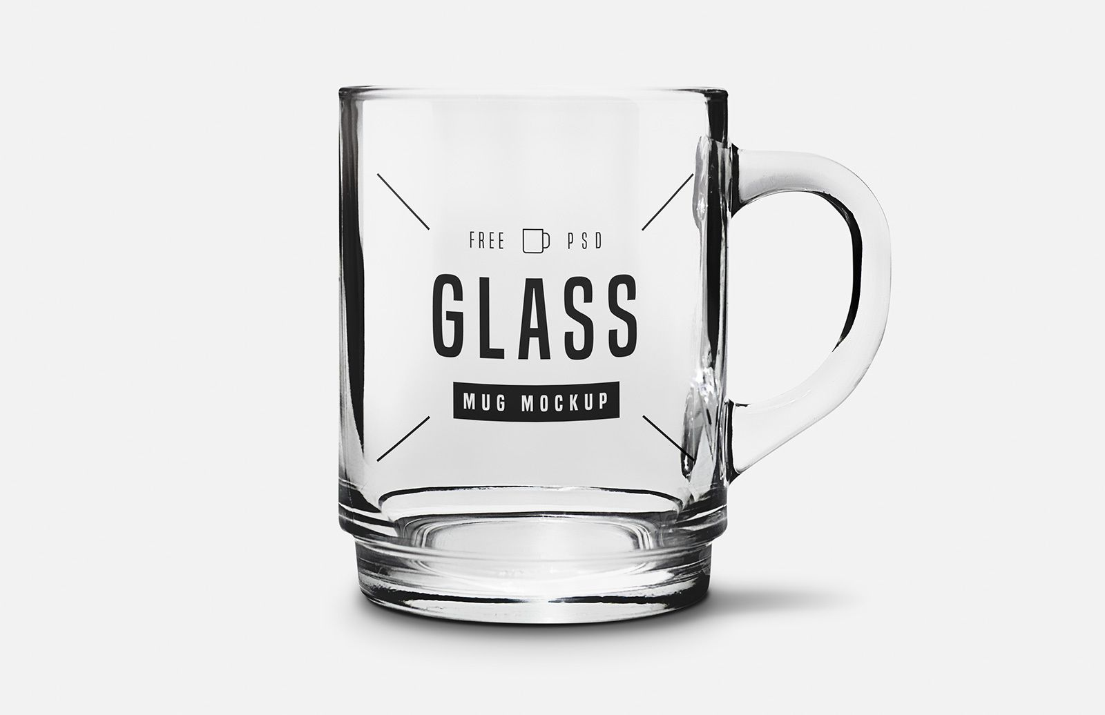 Free Glass Mug Mockup Mugs Poster Design Glass