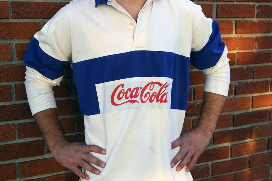 coca cola rugby shirts | Vintage 1970's COCA COLA Rugby Shirt
