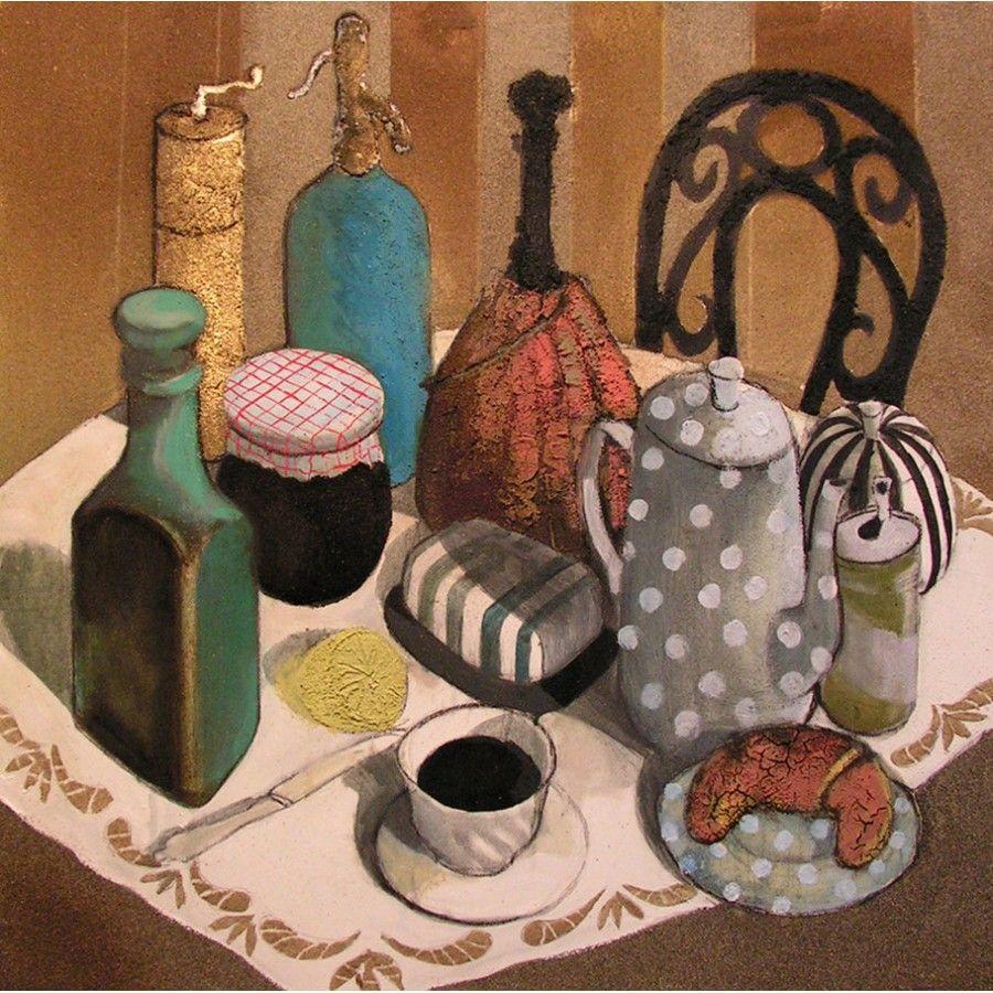 French Breakfast, oil on canvas, 70 x 70 cm, by Todor Ignatov - Toni  http://buyart.tonyignatov.eu/