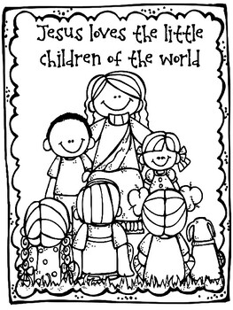 Jesus Loves The Little Children Craft And Color Sheet Love