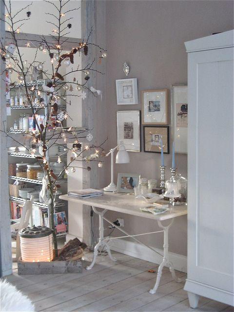The twinkling bird tree Weihnachten, Zimmergestaltung und